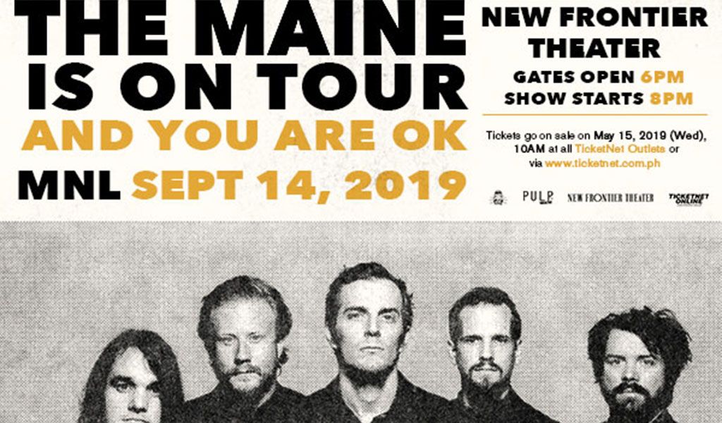 The Maine is on tour